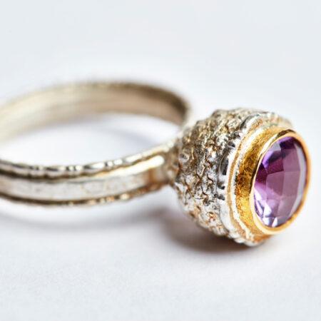 Ring Cupula mit Amethyst
