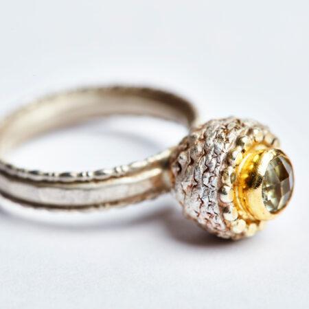 Ring Cupula mit Prasiolith