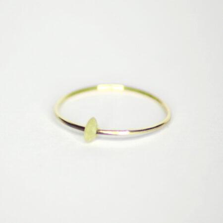 Ring aus 585 Recycling-Gold mit beweglichem Serpentin