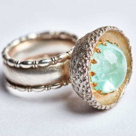 """Ring """"Cupula"""" mit sibirischem Smaragd"""